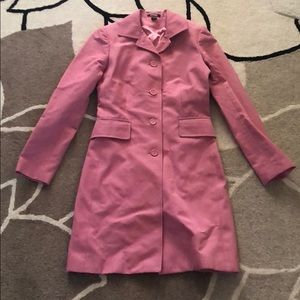 New Express Pink Trench Rain Coat XS